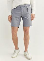 Springfield Two-Tone Structure Bermuda Shorts for Men, 48 EU, Light Blue