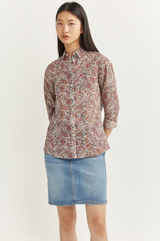 Springfield Long Sleeve Printed Essential Shirt for Women, 42 EU, Multicolor