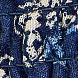 Springfield Off Shoulder Sleeve Floral Border Print Mini Dress, 38 EU, Blue