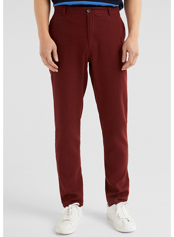 Springfield Sport Trousers Chinos for Men, 48 EU, Wine