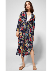 Springfield Floral Graphic Kimono, Large, Navy Blue