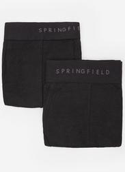 Springfield 2-Piece Elastic Waistband Underwear Set for Men, Black, Large