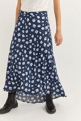 Springfield Asymmetric Midi Skirt, 42 EU, Light Blue