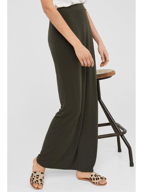 Springfield Solid Maxi Skirt, Medium, Green