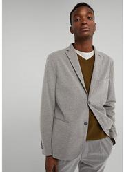 Springfield Long Sleeve Basic Plain Business Jacket for Men, Medium, Medium Grey