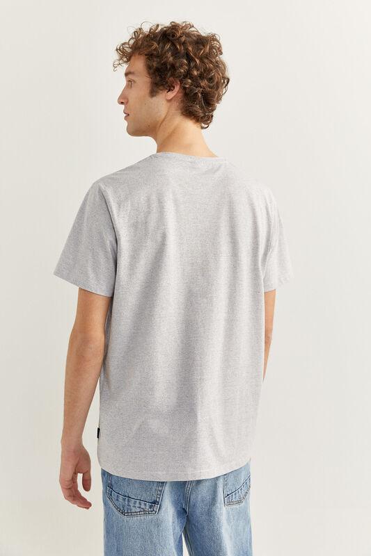 Springfield Short Sleeve Micro Striped T-Shirt for Men, Small, Medium Blue