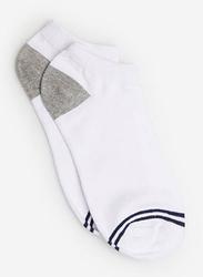 Springfield Fancy No Show Socks for Men, Navy Blue, Large