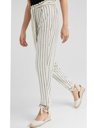 Springfield Cotton Fancy Pants for Women, 44 EU, Beige
