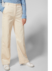 Springfield Cotton Fancy Pants for Women, 40 EU, White