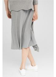 Springfield Handkerchief Midi Skirt, Small, Grey