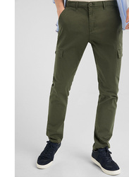 Springfield Sport Trousers Cargo for Men, 42 EU, Green