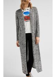 Springfield Long Sleeve Knitted Cardigan, Medium, Dark Grey