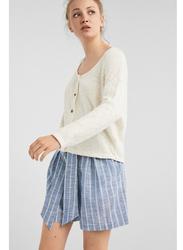 Springfield Long Sleeve Fancy Sweater for Women, Medium, Beige