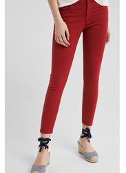 Springfield Denim Jeans for Women, 40 EU, Dark Orange