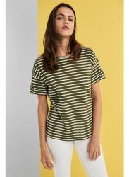Springfield Short Sleeve Top T-Shirt for Women, Medium, Sand
