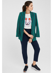Springfield Striped Kimono for Women, Medium, Green