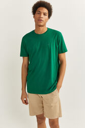 Springfield Short Sleeve Essential Tree Logo T-Shirt for Men, Double Extra Large, Green
