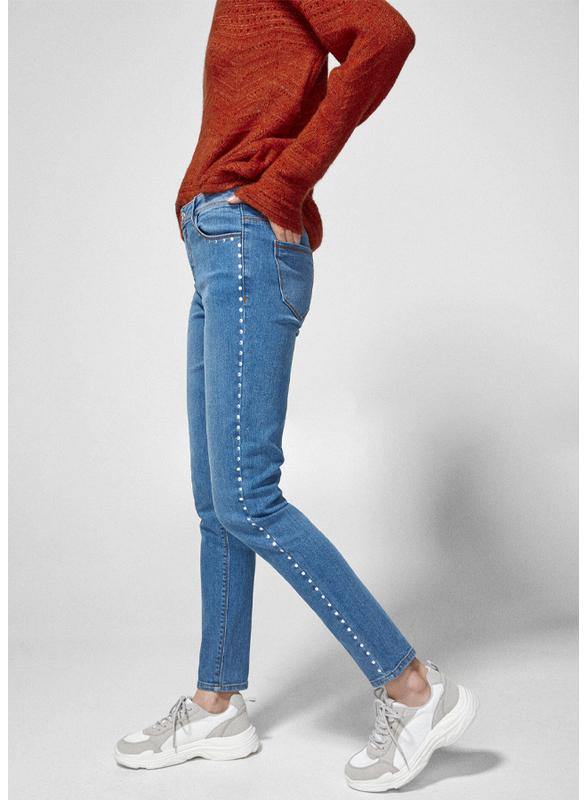 Springfield Fancy Denim Jeans for Women, 38 EU, Medium Blue