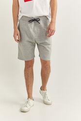 Springfield Towelling Bermuda Shorts for Men, Small, Light Grey
