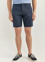 Springfield Zip Fly Button Fastening Bermuda Shorts for Men, 42 EU, Medium Blue