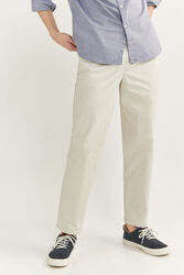 Springfield Relaxed Fit Pleated Chinos for Men, 40 EU, White