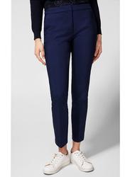 Springfield Cotton Fancy Pants for Women, 38 EU, Blue