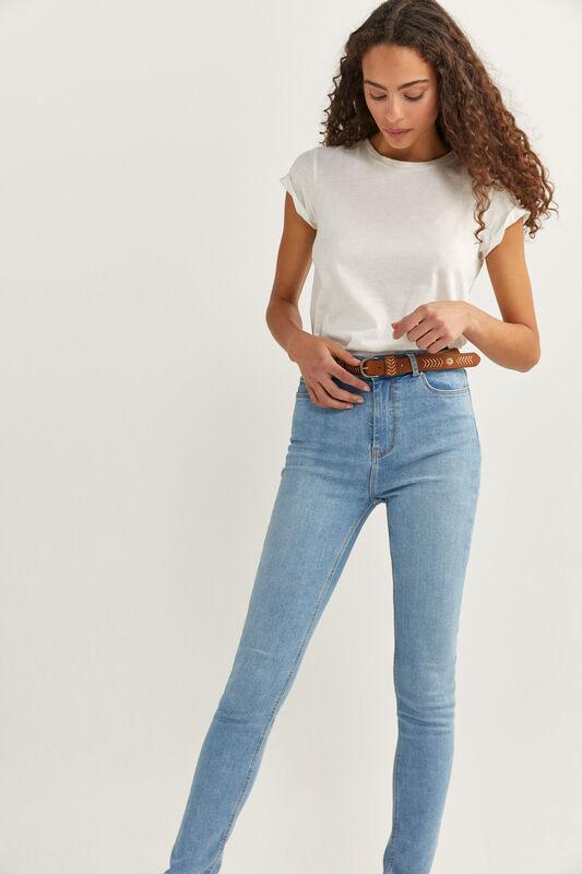 Springfield Sculpt High Rise Jeans for Women, 36 EU, Light Blue