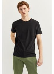 Springfield Basic Short Sleeve Round Neck T-Shirt for Men, Small, Black