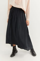 Springfield Long Striped Maxi Skirt, Small, Black