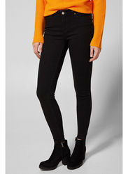 Springfield Denim Basic Jeans for Women, 38 EU, Black