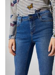 Springfield Denim Basic Jeans for Women, 40 EU, Medium Blue