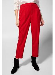 Springfield Cotton Fancy Pants for Women, 38 EU, Red