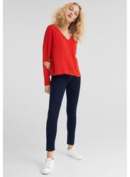 Springfield Long Sleeve Fancy T-Shirts for Women, Large, Orange