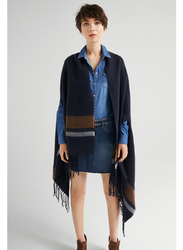 Springfield Scarf Poncho for Women, Extra Small, Navy Blue
