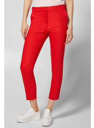 Springfield Cotton Fancy Pants for Women, 38 EU, Orange