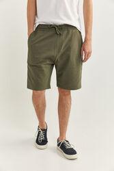 Springfield Towelling Bermuda Shorts for Men, Large, Green