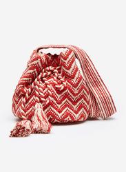 Springfield Zig Zag Motif Crossbody Bag for Women, Red/White