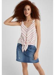 Springfield Fancy Sleeveless T-Shirt for Women, Extra Small, Wine
