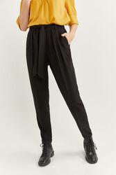 Springfield Elasticated Waist Jogger Trousers for Women, 34 EU, Black