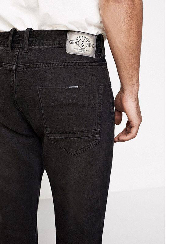 Springfield Denim Jeans for Men, 36 EU, Black