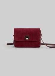 Springfield Crossbody Bag for Women, Maroon