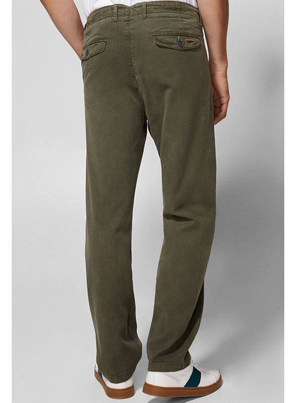 Springfield Sport Trousers Chinos for Men, 42 EU, Olive