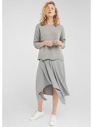 Springfield Handkerchief Midi Skirt,  Medium, Tan
