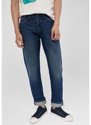 Springfield Denim Jeans for Men, 38 EU, Dark Blue