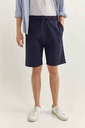 Springfield Towelling Bermuda Shorts for Men, Large, Navy Blue