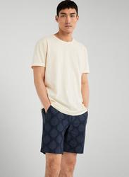 Springfield Leaf Print Bermuda Shorts for Men, 46 EU, Medium Blue