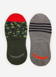 Springfield Fancy No Show Socks for Men, Green, Large
