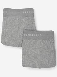 Springfield 2-Piece Slips Knitted Underwear Set for Men, Dark Grey, Medium