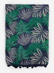 Springfield Tropical Graphics Scarf for Women, Extra Small, Blue