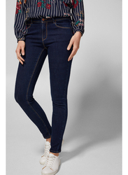 Springfield Denim Basic Jeans for Women, 44 EU, Dark Blue